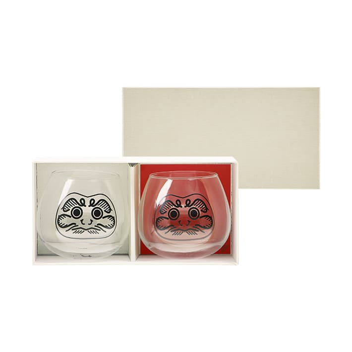DARUMA GLASS 2PCS