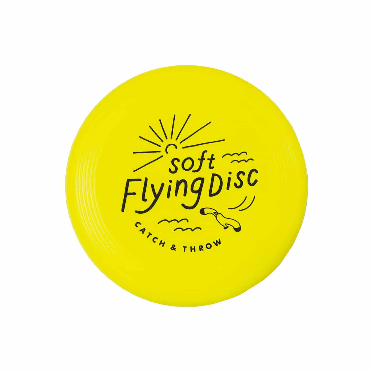 SOFT FLYING DISC イエロー