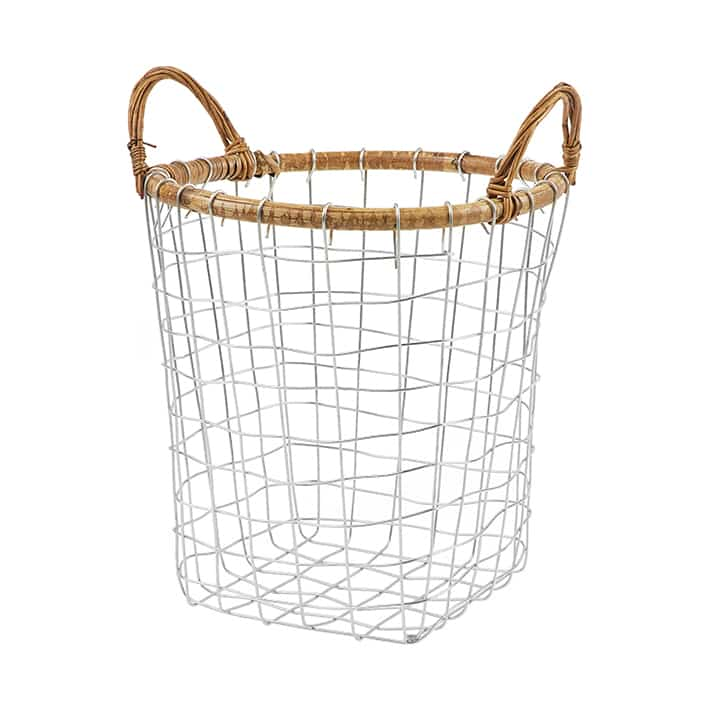 RATTAN TOP WIRE BASKET Mサイズ