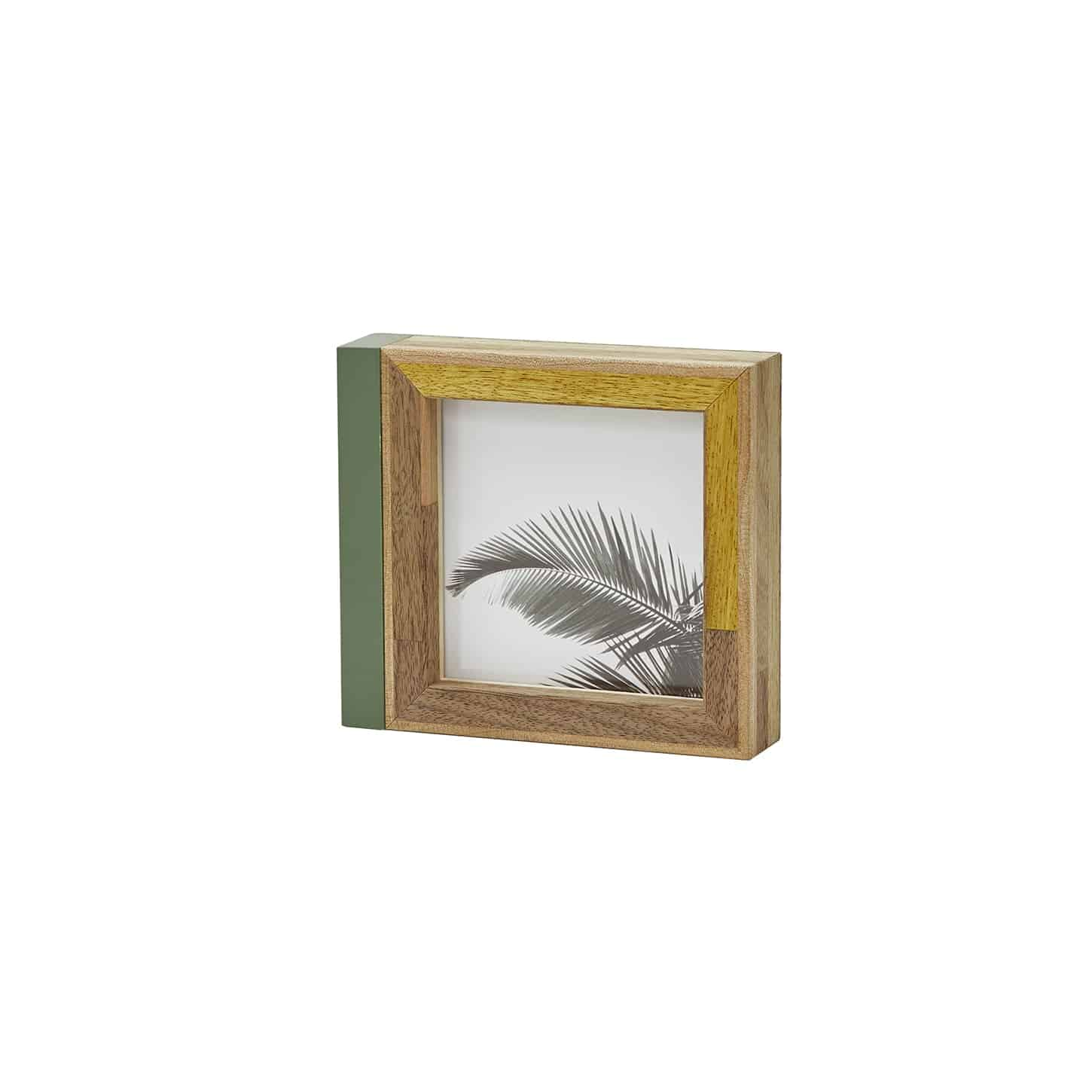 PARQUET PHOTO FRAME GREEN